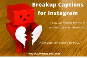 Breakup Captions for Instagram