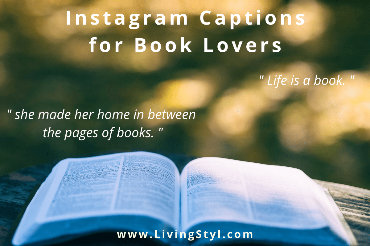 Instagram Captions for Book Lovers