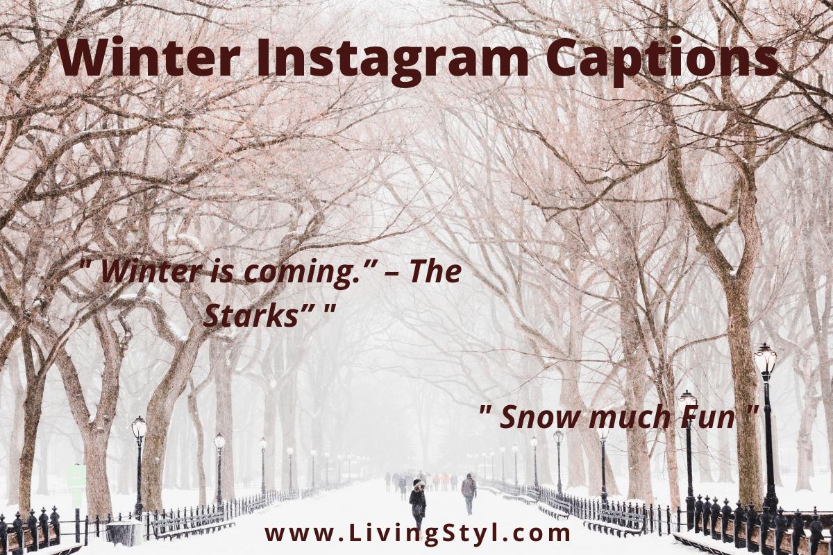 winter captions for Instagram